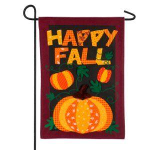 Garden Flag - Happy Fall - Pumpkins